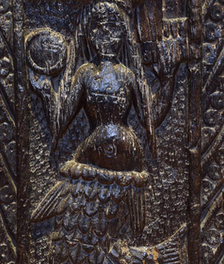 Carving of the Mermaid of Zennor from the 1400's