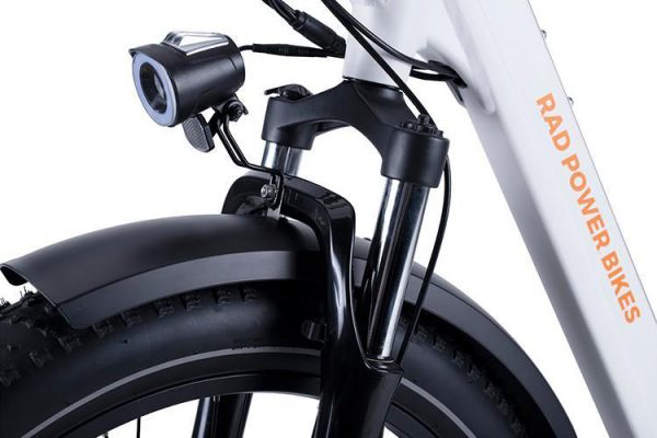 Go eBike Hire electric bike model Rad Runner Rhino Step Thru Front Suspension